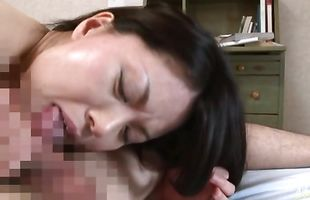 Fascinating mature babe Miki Sato gets cunny drilled after licking