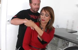 Mesmerizing latina brunette housewife Monique Fuentes is incredible and reaches a huge orgasm