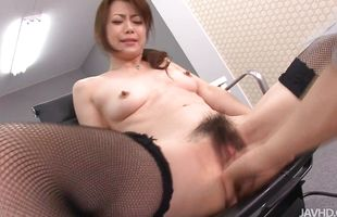 Aroused Maki Hojo is about to make love with mate
