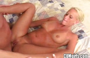 Sex appeal busty mature blonde bombshell Sintia teases a wang with her round butt cheeks