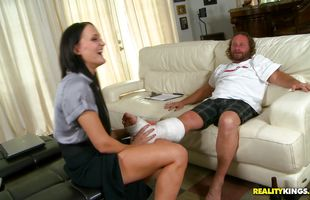 Playsome mature sweetie Bobbi Brixton gets plowed by her mate's friend