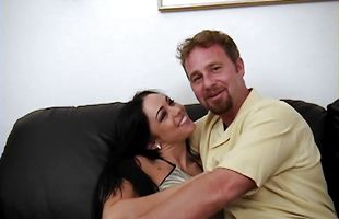 Playful latina Cherokee with firm tits blows and rides horny lad