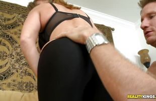 Prodigious mature minx Grace is moaning while stranger is fucking her brains out