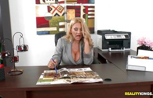 Inviting busty Charity Mclain is about to get down and dirty with stud she likes a lot