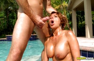 Appealing latina mature babe Tara Holiday surprised dude while he was not expecting it