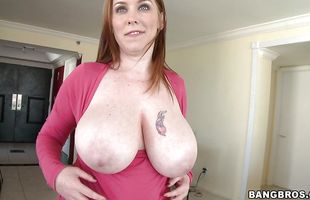 Lusty mature Desiree De Luca with firm natural tits got fucked in the butt until she had an orgasm