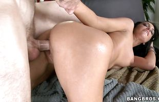 Lustful mature Amber Cox with round tits teases a firm prick before giving a blowjob