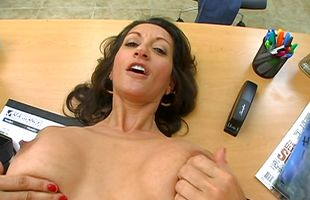 Hot-tempered brunette Persia got fucked from the back in front of the camera for the first time