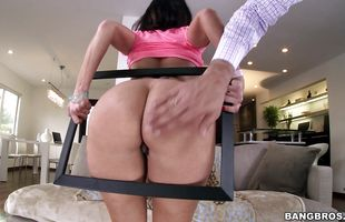 Mesmerizing brunette mature Ava Addams is violently impaled on a big prick
