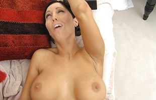 Kinky booty mature Dylan Ryder enjoys riding a very big and hard penis