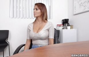 Appetizing latina brunette milf Bianca gets blasted