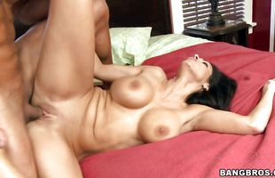 Stupefying Veronica Rayne with massive tits gladly lets her buddy grope her