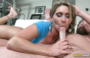 Enticing mom Devon James is ready for wild dick riding