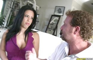 Salacious mature latin Branda Fox bends over and gets her meaty cunt drilled