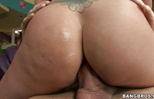 Sexual busty mature Holly Heart got fucked in many positions until she got satisfied and exhausted