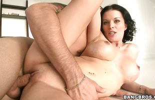 Savory brunette lady Bailey Brooks got down and dirty with her new male