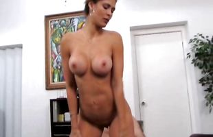 Shameless mature latina lady Monique Fuentes puts a slim jim in her juicy twat