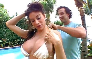 Portion of cum for a latin brunette cougar Sheila Marie