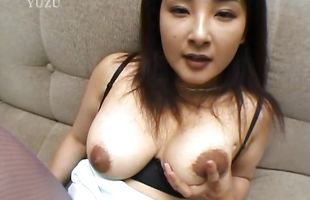 Awesome mature Yui Tokui spreads her tanned legs for a hard meat member
